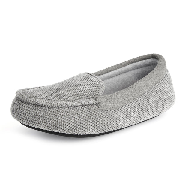 Women's Chenille Fabric Lightweight Moc Slipper