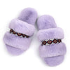 Women's Arizona Fuzzy Memory Foam Slide