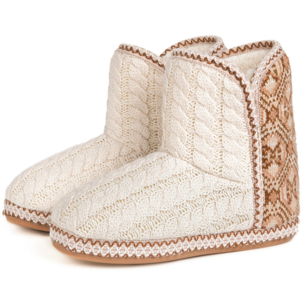 Women's Cheyenne Cable Knit Indoor Bootie Slipper