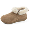 Women's Faux Leather House Bootie Memory Foam Slipper