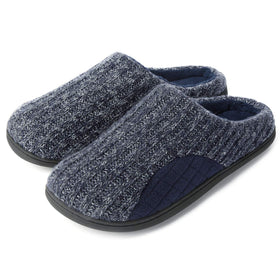 Men's Checked Patch Knit Slip-On