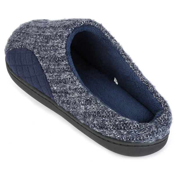 ULTRAIDEAS Men's Cashmere Cotton Knitted Autumn Winter Memory Foam Fabric Slippers