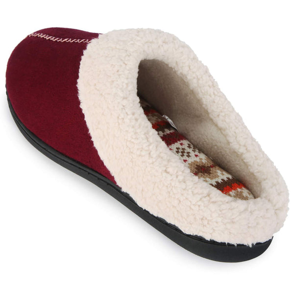 ULTRAIDEAS Women's Micro Suede Clog Slip-on House Slippers