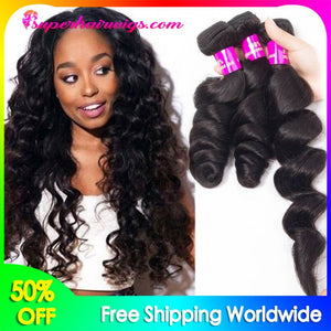 Peruvian Virgin Hair Loose Wave Hair 3 Bundles
