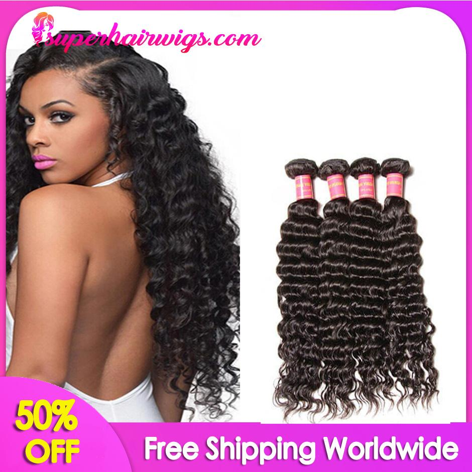 Peruvian Virgin Hair Deep Wave Hair 4 Bundles