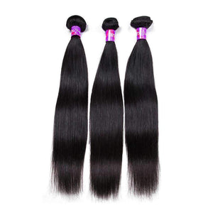 Straight Hair 3 Bundles With Frontal Closure (13*4 INCH)
