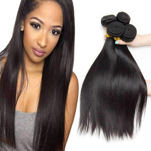 Peruvian Virgin Hair Straight Hair 4 Bundles
