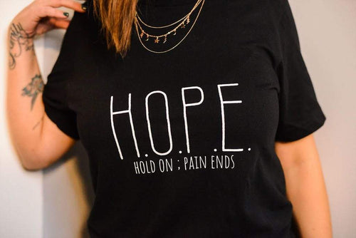 LGBTQ AF H.O.P.E. Hold On. Pain Ends. - Mental Health Awareness Shirt
