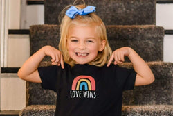 LGBTQ AF Love Wins Rainbow Squad Kids Shirt