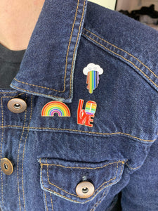 LGBTQ AF Rainbow Cloud Lapel Pin