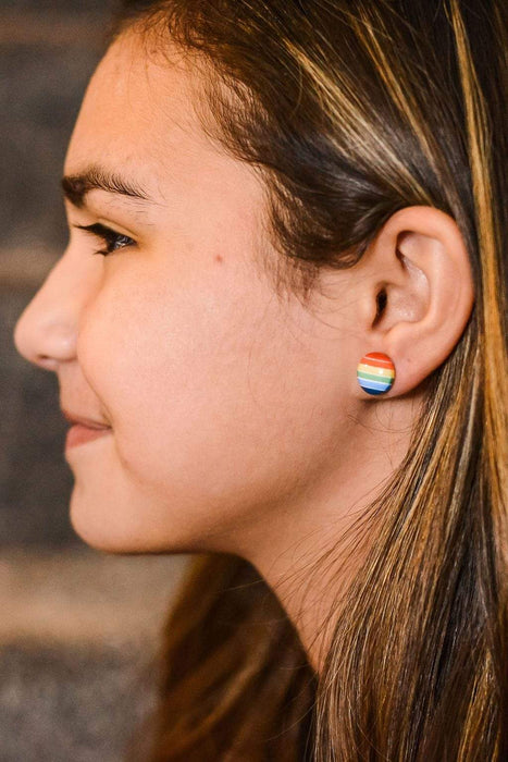 LGBTQ AF Rainbow Pride Earrings