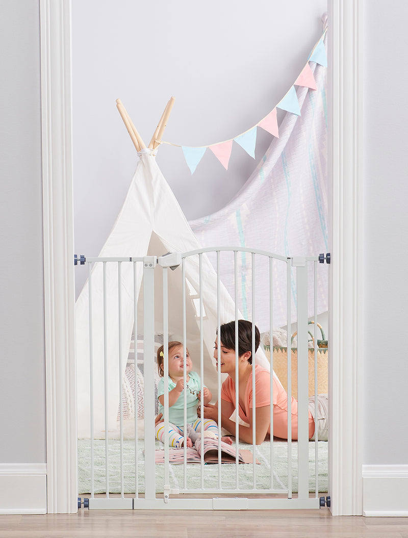 White Extra Tall Arched Decor Baby Gate