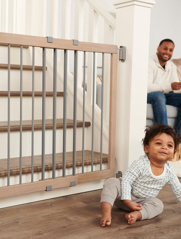 Heritage and Home™ Wooden Stairway Safety Gate