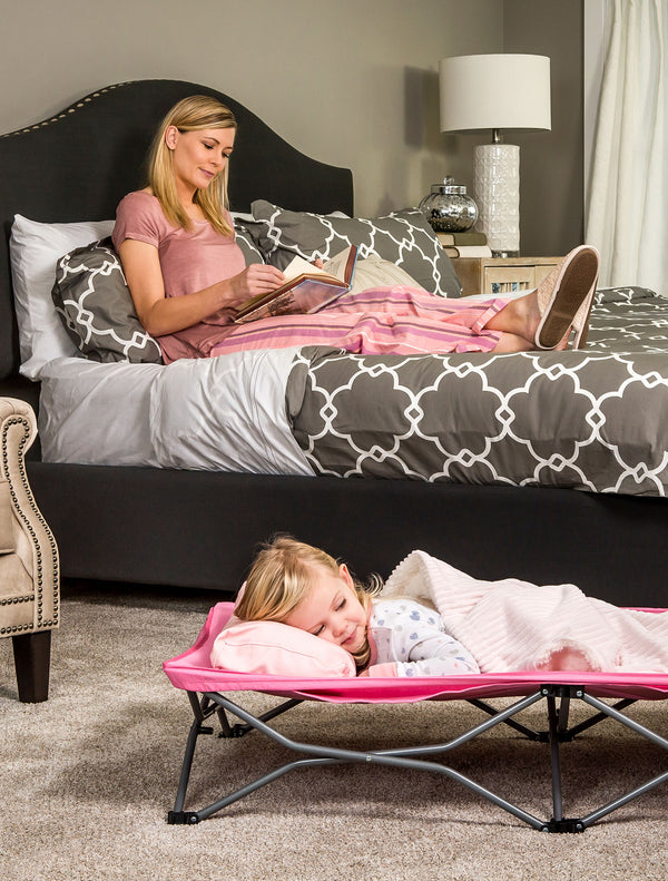 Pink My Cot® Portable Toddler Bed™