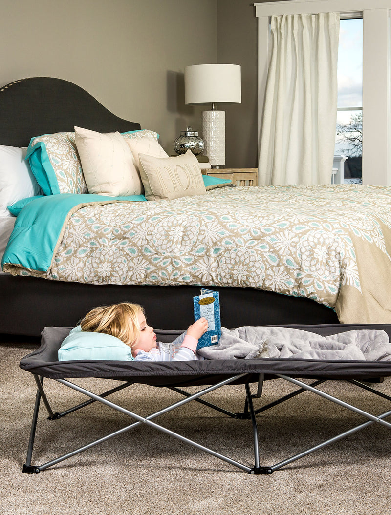 Gray Extra Long My Cot® Portable Toddler Bed™