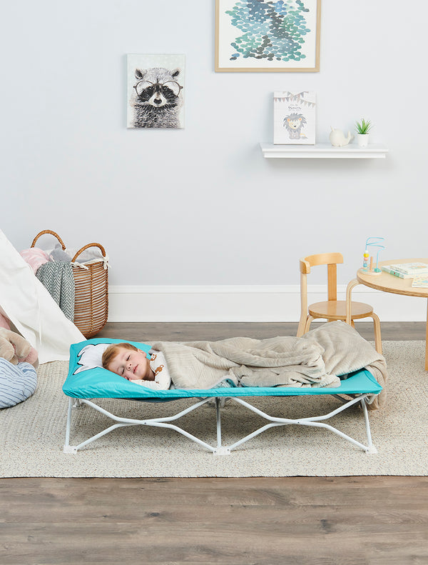 My Cot® Pals Portable Toddler Bed - Teal Bear