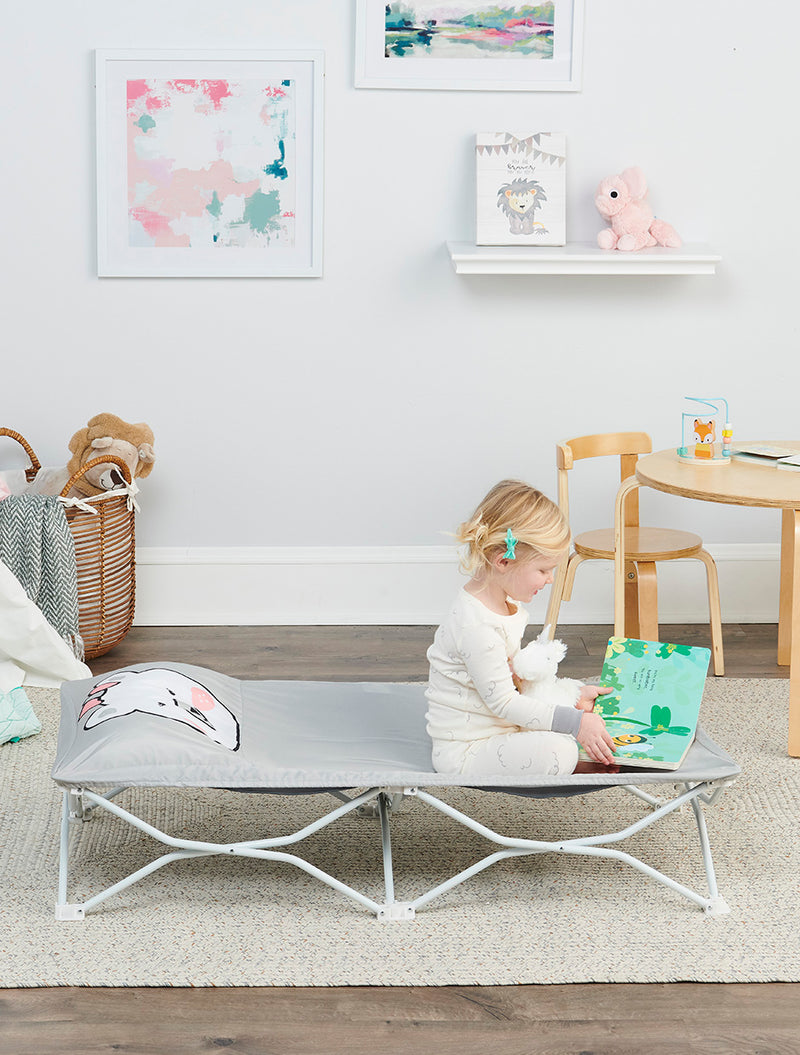 My Cot Pals Portable Toddler Bed - Gray Polar Bear