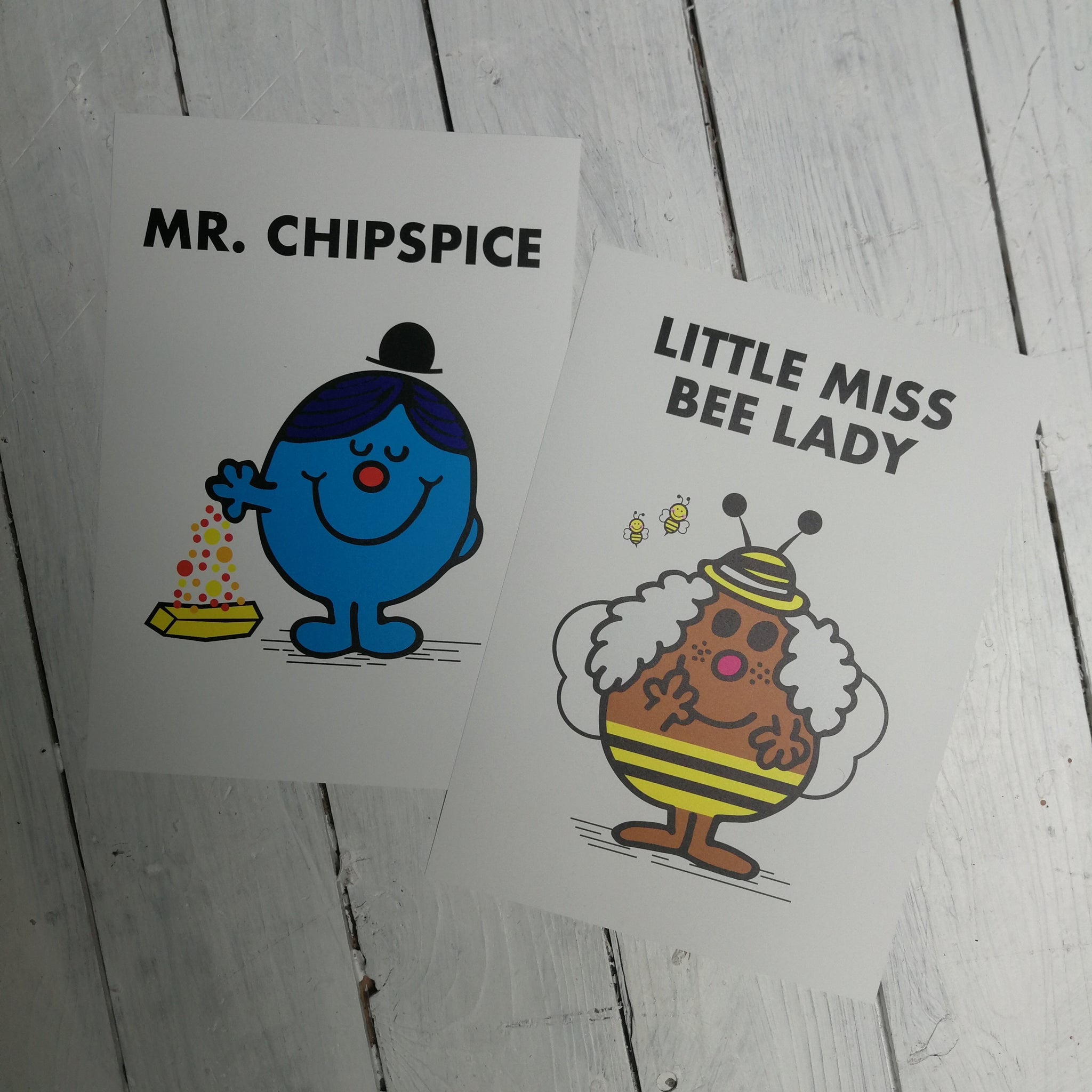 Little Miss Bee Lady & Mr Chipspice