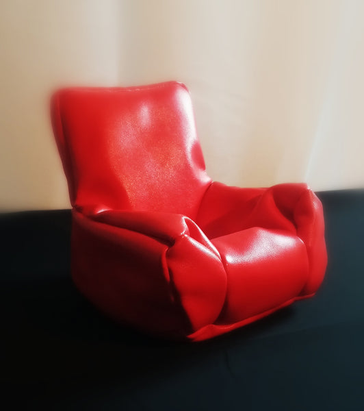 Leather Cellphone Beanbag Chair - Multiple Colors to Choose - CubeStuff.com