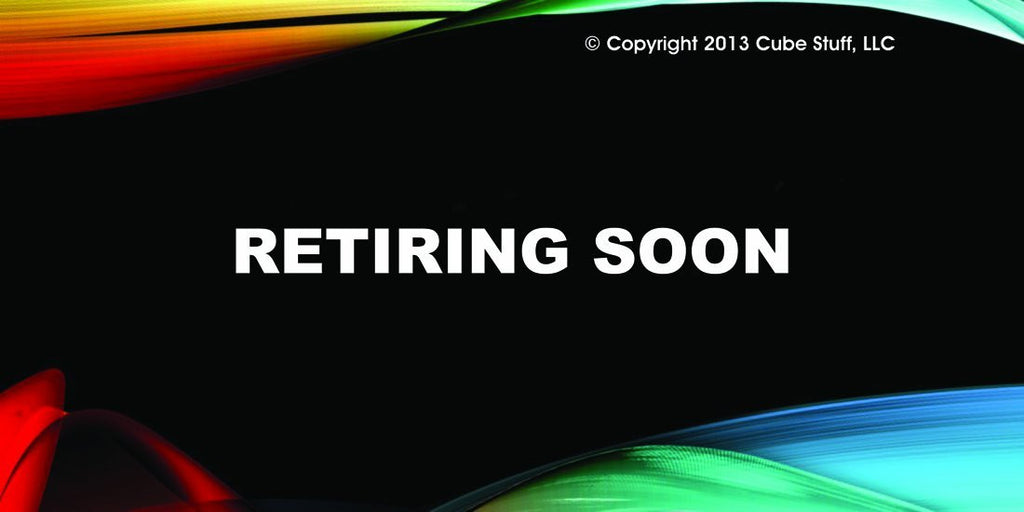 Retiring Soon Cube Sign Colored Background