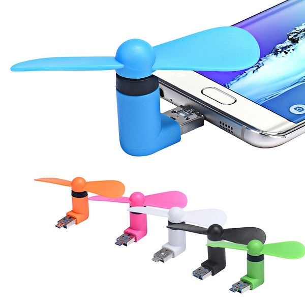 Portable Phone Fan for Apple or Android Devices
