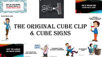Office Cube Signs- OUT TO LUNCH - CubeStuff.com