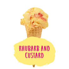Load image into Gallery viewer, Rhubarb and Custard Ice Cream