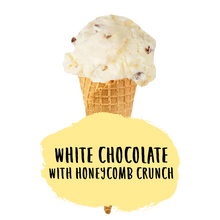 Load image into Gallery viewer, White Chocolate with Honeycomb Crunch Ice Cream