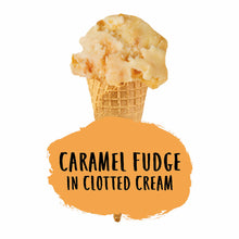 Load image into Gallery viewer, Caramel Fudge in Clotted Cream Ice Cream
