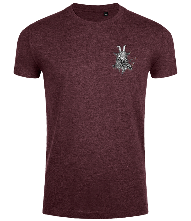 The Smoking Goat Men's Slim Fit T-shirt - Maroon