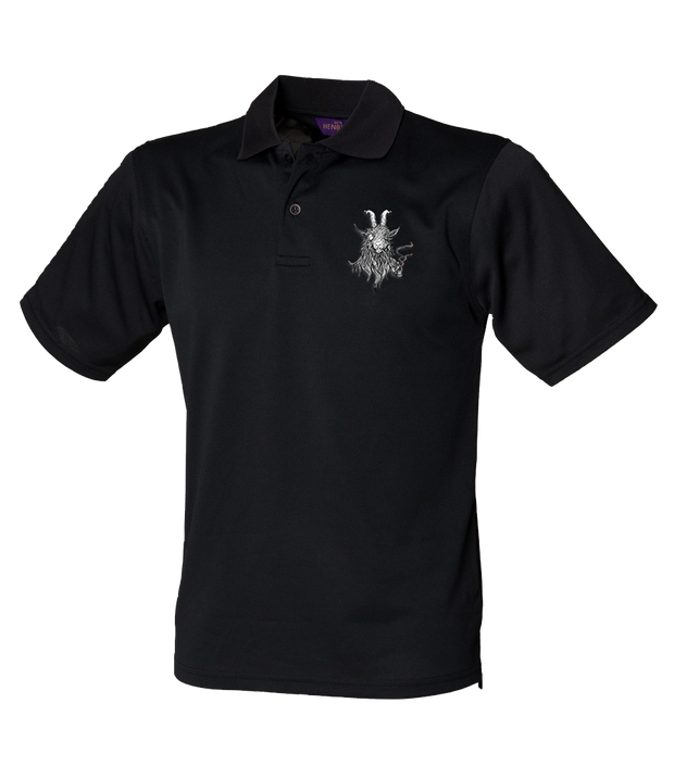 The Smoking Goat Polo Shirt - Black