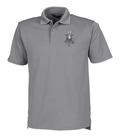 The Smoking Goat Polo Shirt - Grey