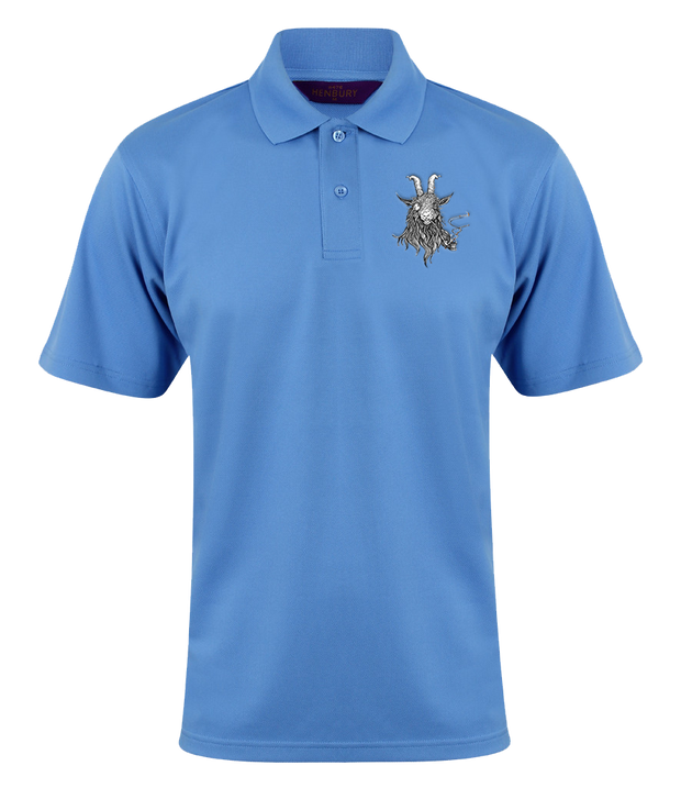The Smoking Goat Polo Shirt - Blue