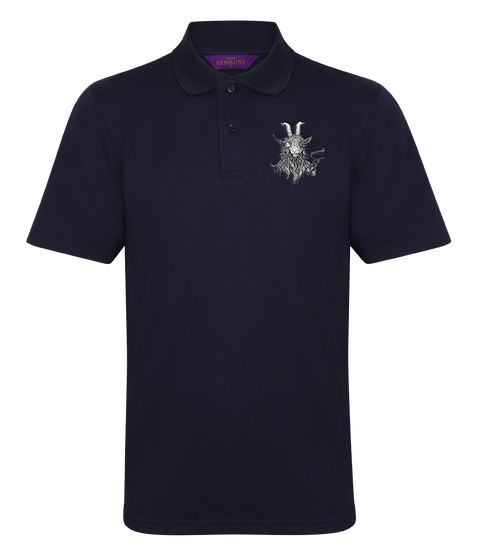 The Smoking Goat Polo Shirt - Navy