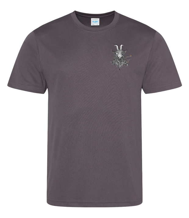 The Smoking Goat Men's T-Shirt - Charcoal
