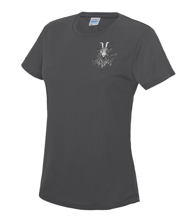 The Smoking Goat Woman's T-Shirt - Charcoal