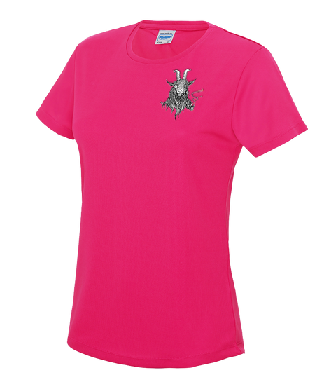 The Smoking Goat Woman's T-shirt - Fuchsia pink