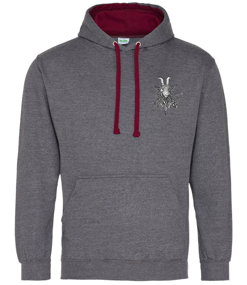 The Smoking Goat Hoodie - Dark Grey