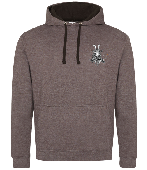 The Smoking Goat Hoodie - Brown