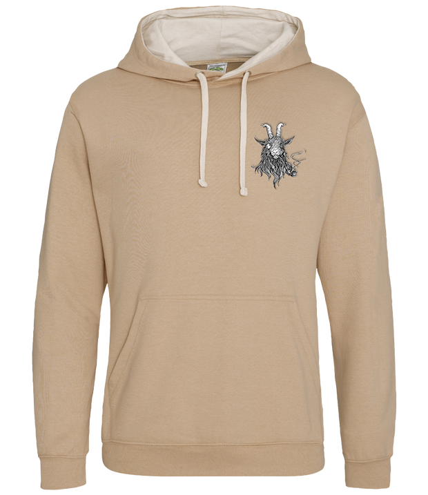 The Smoking Goat Hoodie - Beige
