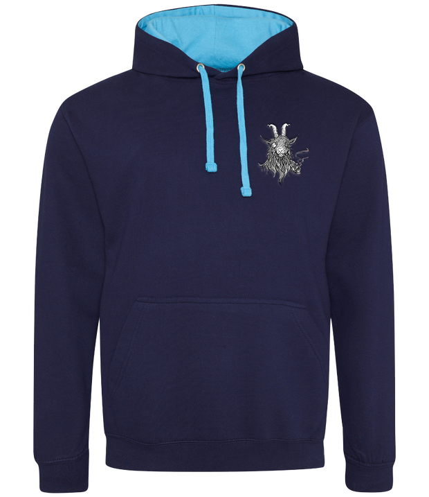 The Smoking Goat Hoodie - Navy