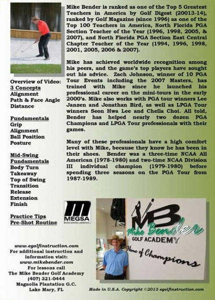 DVD-Basics to a WORLDCLASS SWING with Mike Bender
