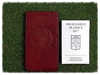 Leather Yardage Book (Cover and Insert) - Black or Brown