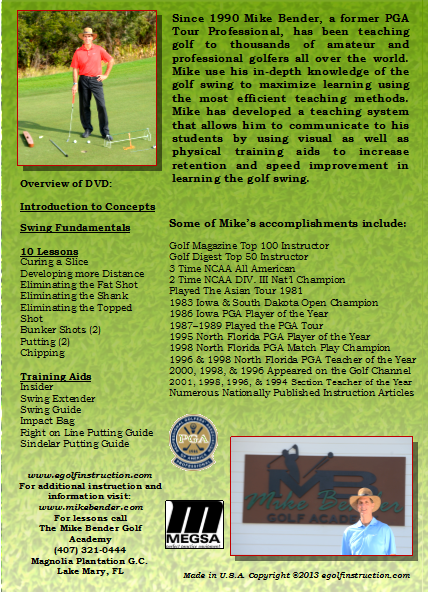 DOWNLOAD VERSION-Golf Lessons with Mike Bender