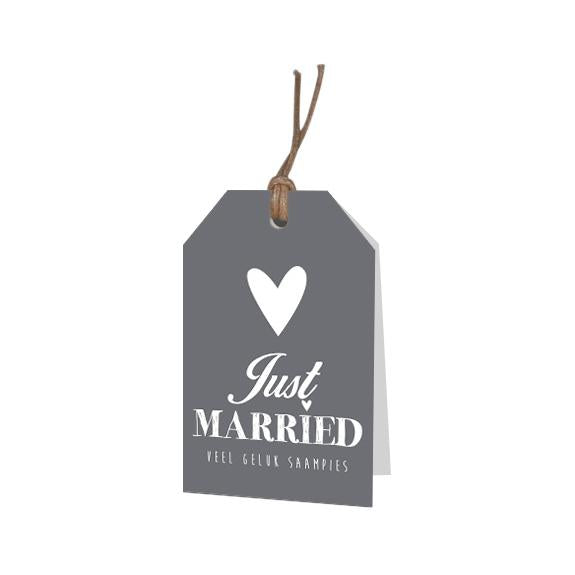 Mini kaartjes - Just married