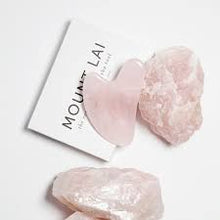 Load image into Gallery viewer, Mount Lai Rose Quartz Gua Sha Facial Lifting Tool