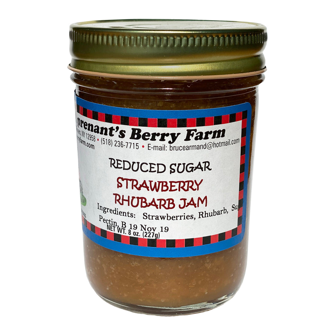 Strawberry Rhubarb Jam - Reduced Sugar