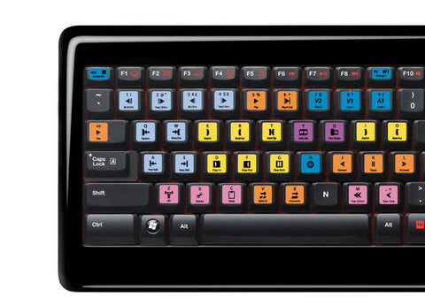 Avid Media Composer Keyboard Stickers | All Keyboards | QWERTY UK, US - miuxe