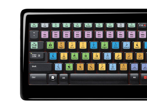 Adobe Photoshop Keyboard Stickers | All Keyboards | QWERTY UK, US - miuxe
