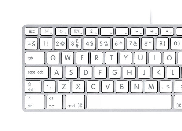 English Large Big Letters Keyboard Stickers Mac